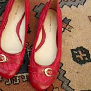 Super cute red size 9 1/2 womans flats